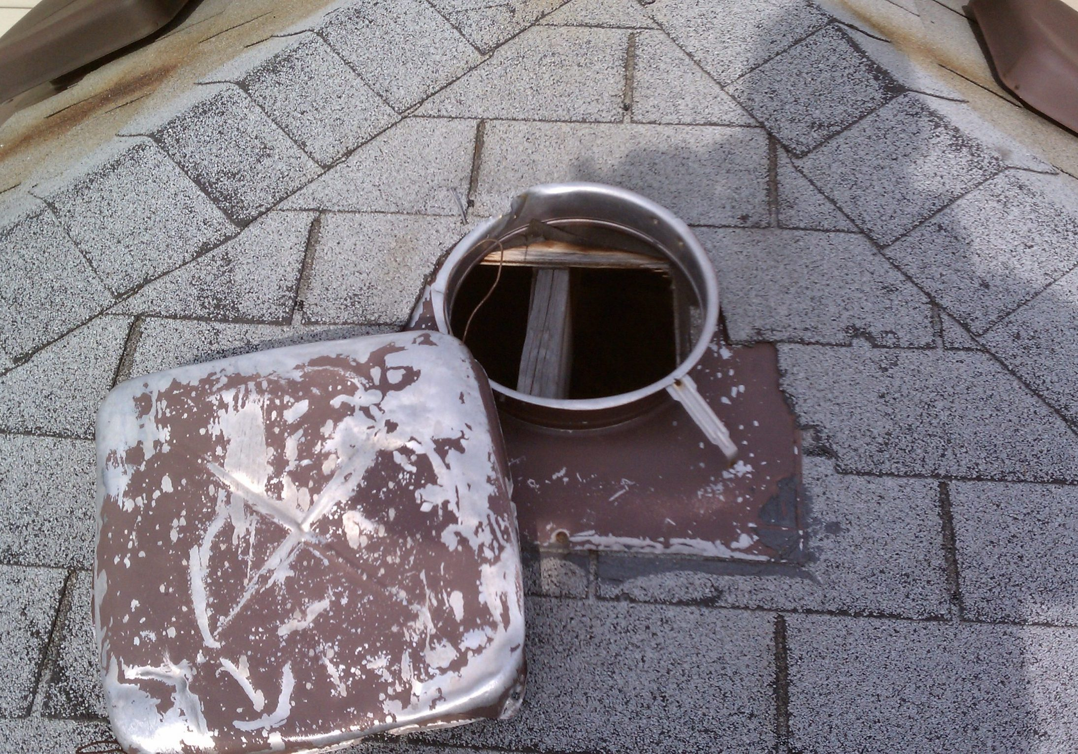 Raccoon Damage to a Roof Vent